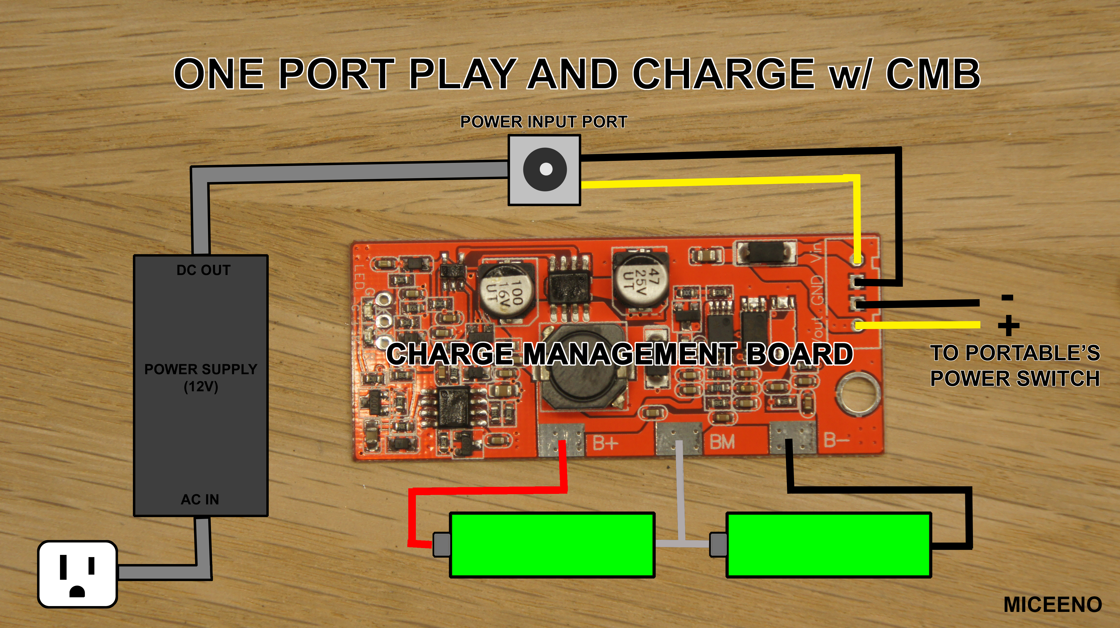 Building Batteries With 1 Port Play And Charge Bitbuilt Giving No Schottky Diodes Solid State Mosfet Switching Circuit 6 Battery One Cmb